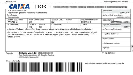 Com o recurso do boleto inteligente, o boleto fica disponível online e é atualizado (data, juros e multa) sempre que o cliente acessá-lo através de um link