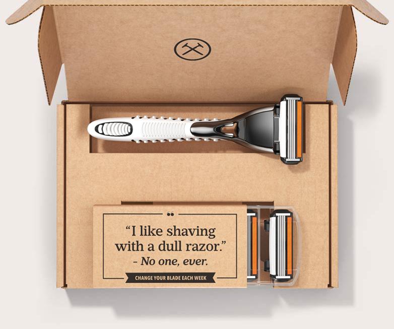 A caixa da Dollar Shave Club